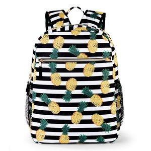 Handbags - Back to school pineapple full sized nylon backpack